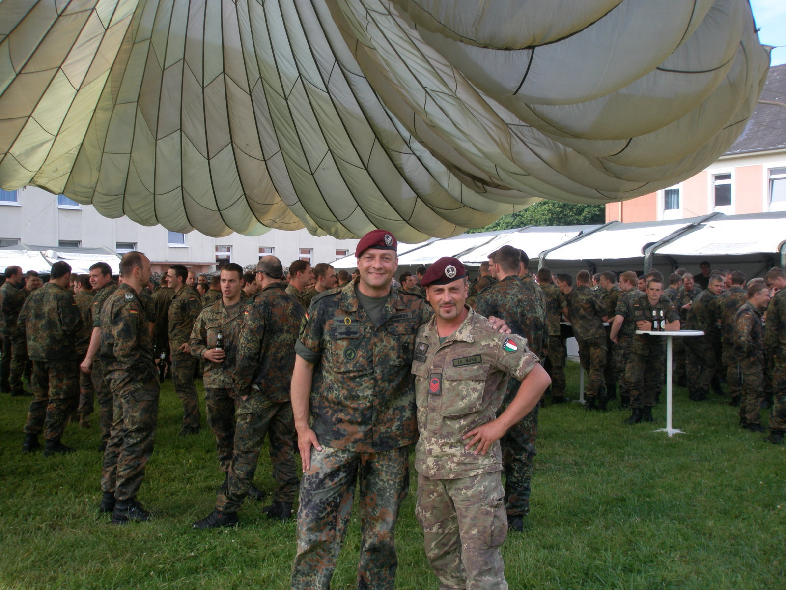 Training with German Army