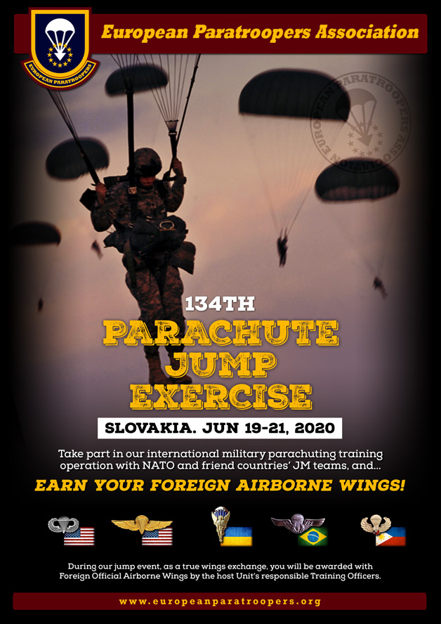 134th PARACHUTE JUMP EXERCISE