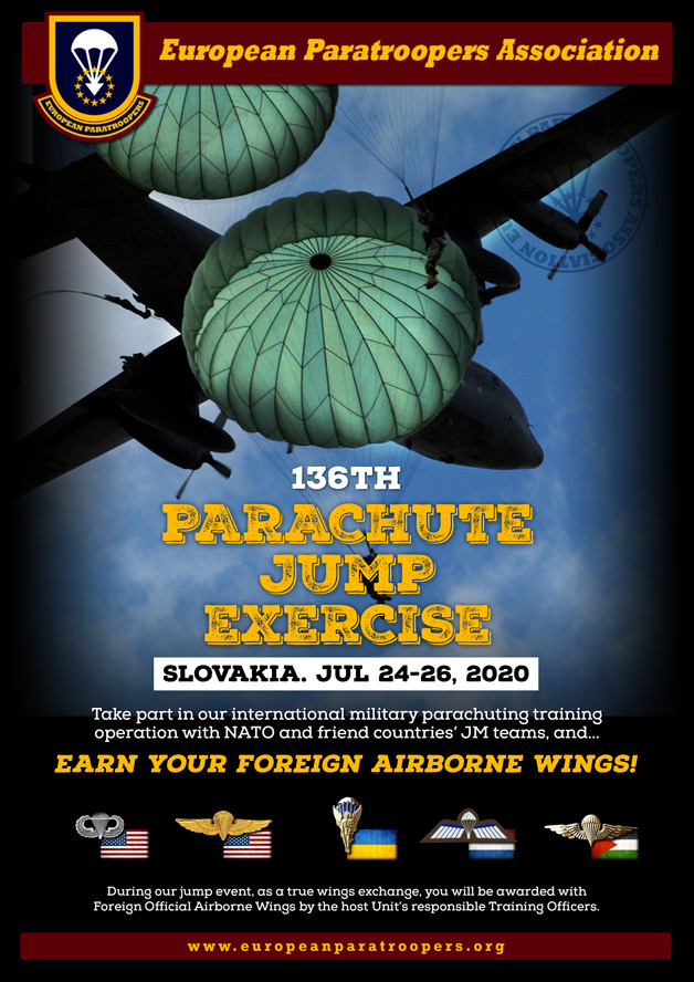 136th PARACHUTE JUMP EXERCISE