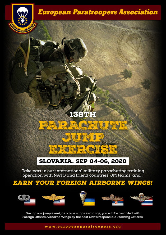 138th PARACHUTE JUMP EXERCISE