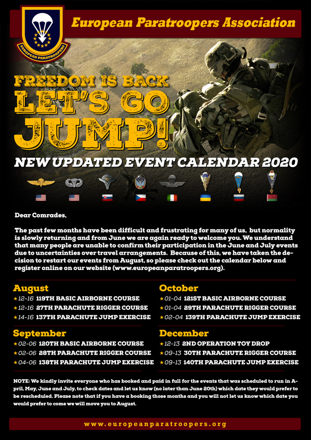 2020 Jumps calendar new