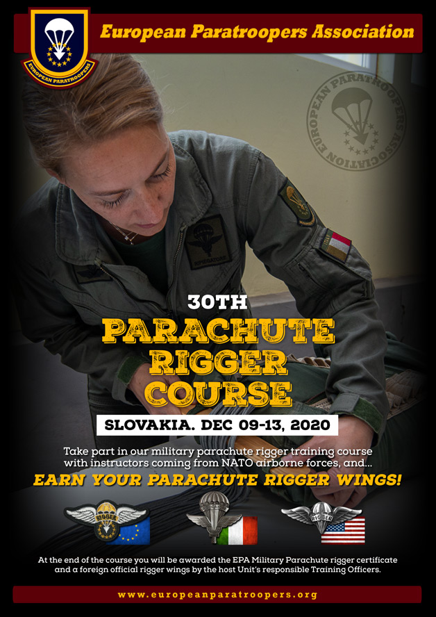 30th PARACHUTE RIGGER COURSE