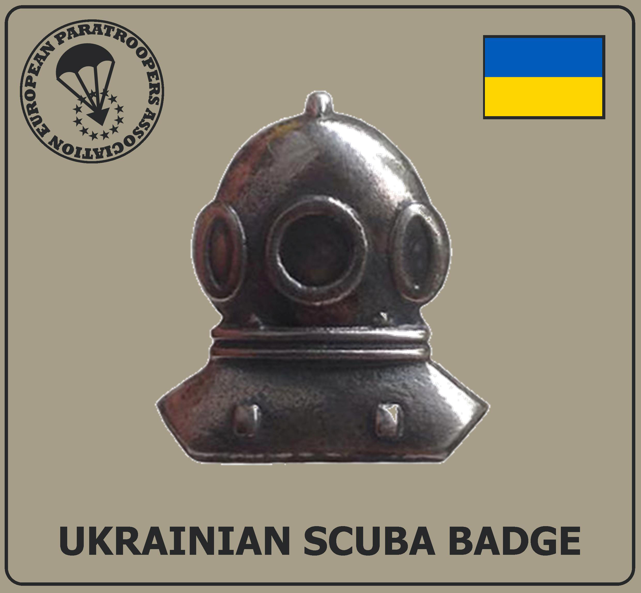 UKRAINIAN SCUBA DIVER BADGE