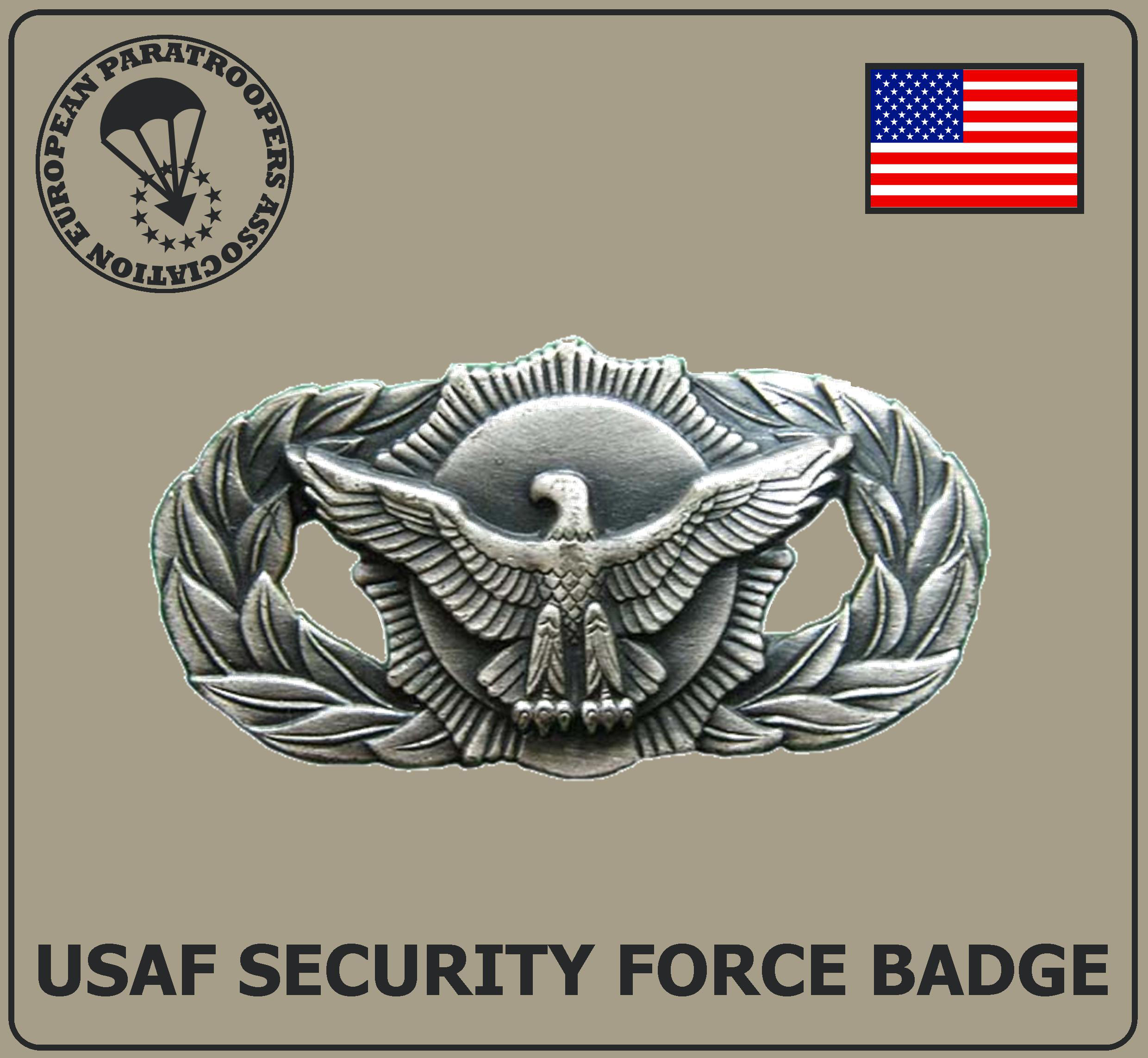 USAF SECURITY FORCE BADGE