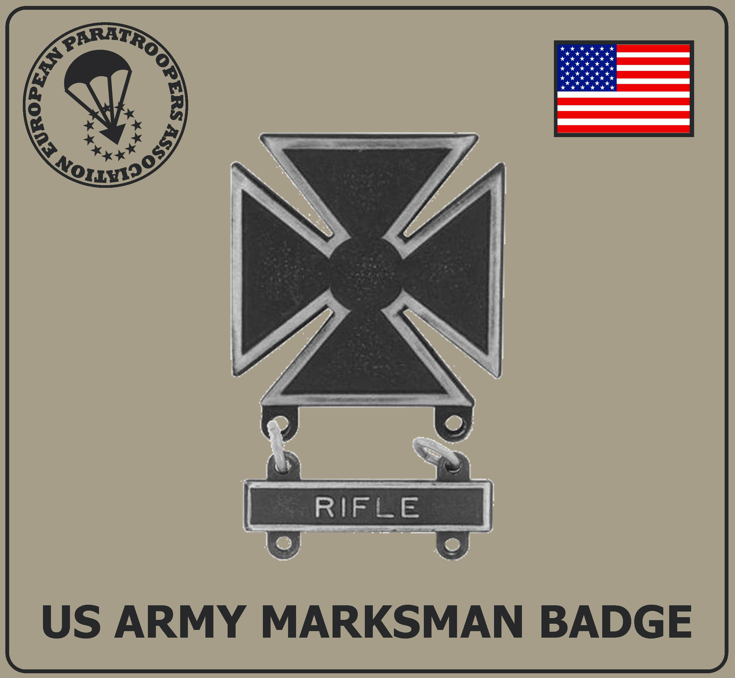 US ARMY MARKSMAN BADGE R