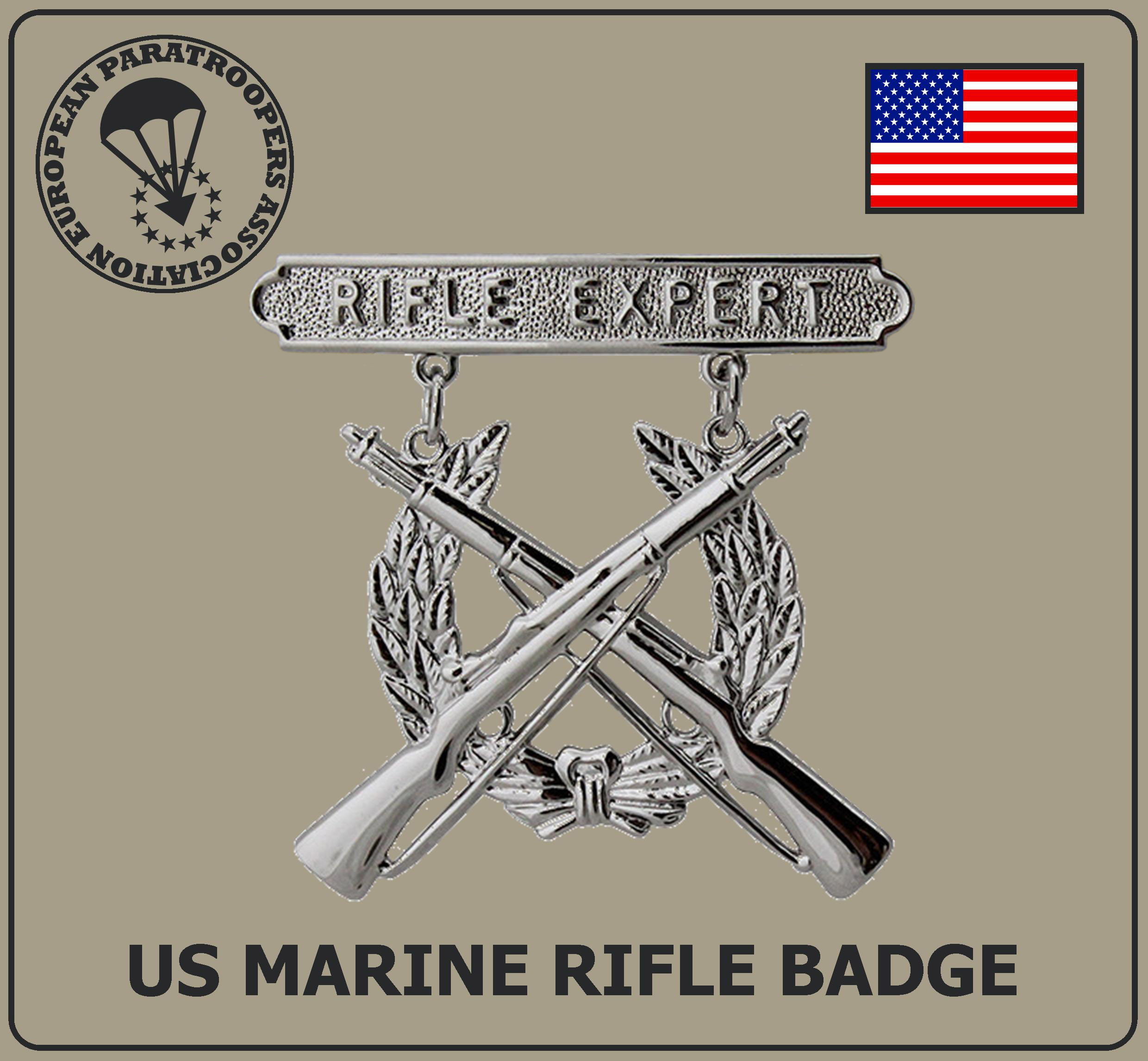 US MARINE RIFLE BADGE