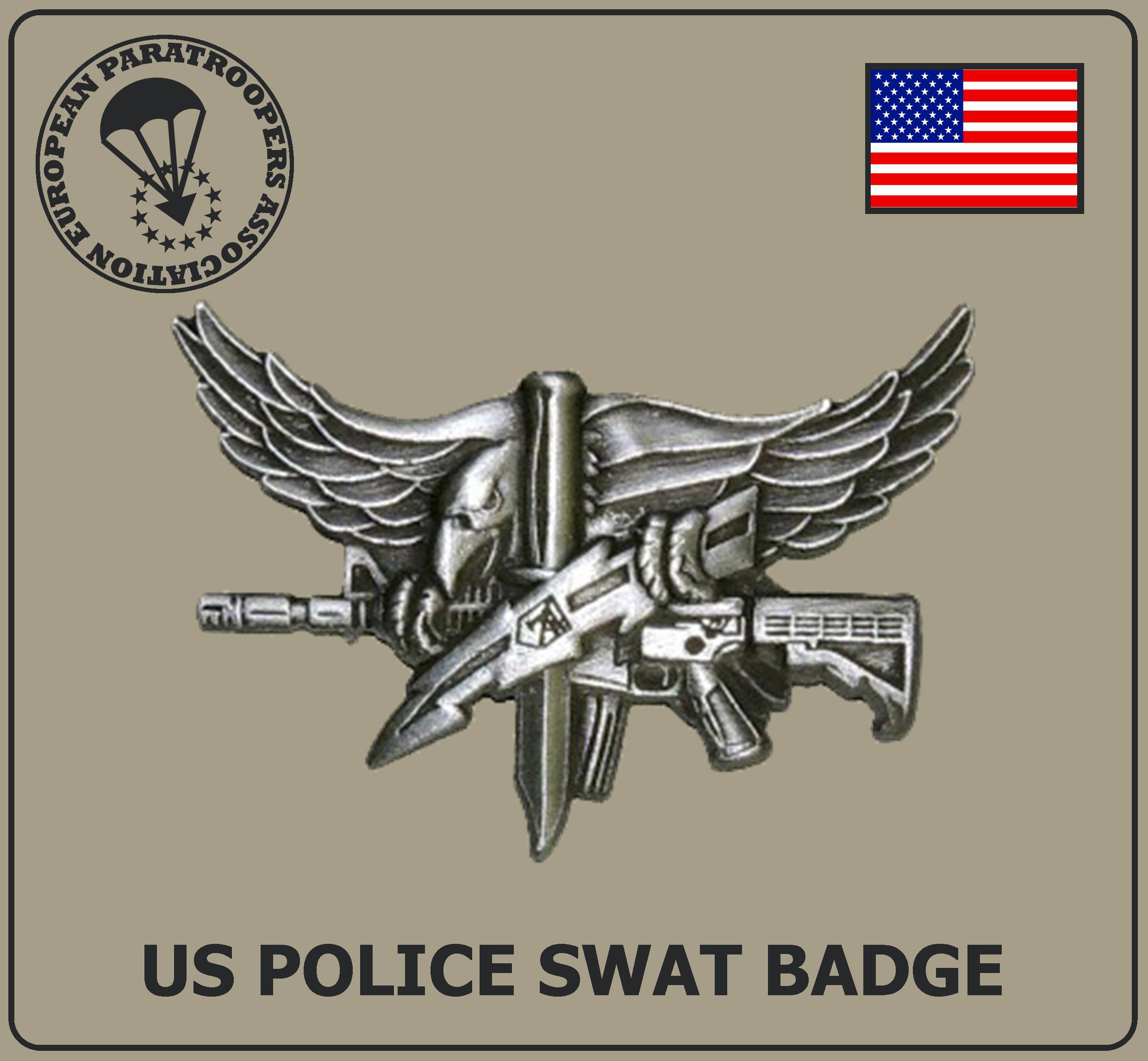 US POLICE SWAT BADGE