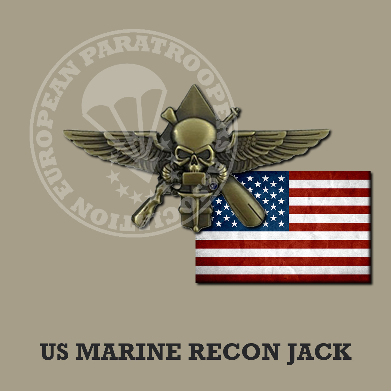 US MARINE RECON JACK BADGE